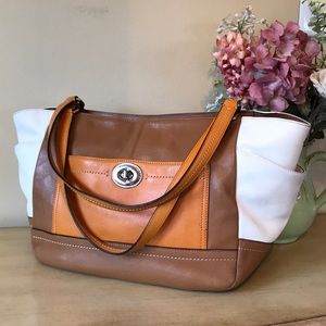 Coach leather Carrie Park Tote